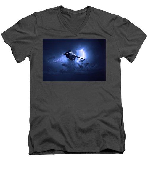 Lightning Storm Men's V-Neck T-Shirt