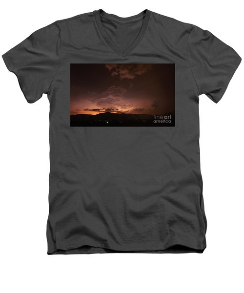 Lightning Streaks  Men's V-Neck T-Shirt