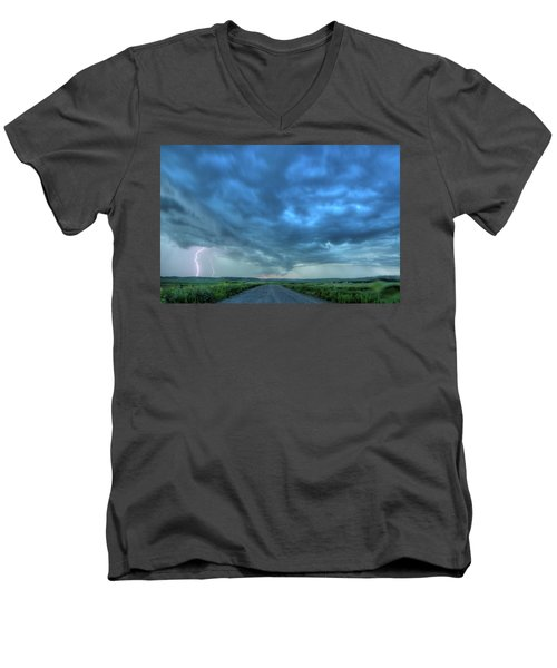 Lightning Strike Men's V-Neck T-Shirt