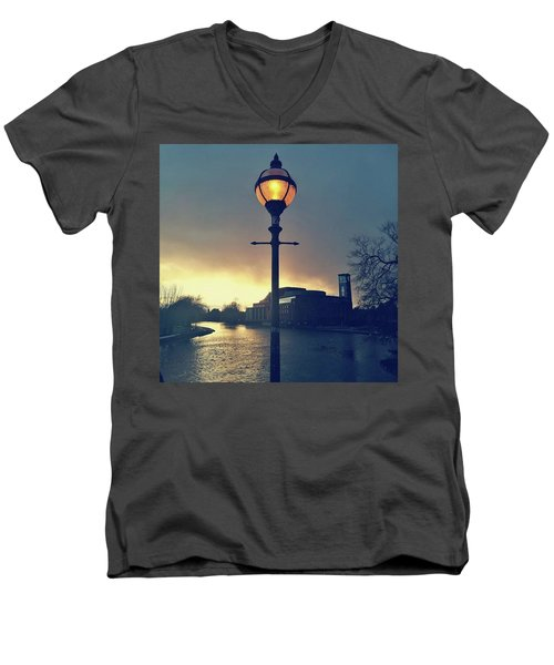 Let There Be Light. Men's V-Neck T-Shirt