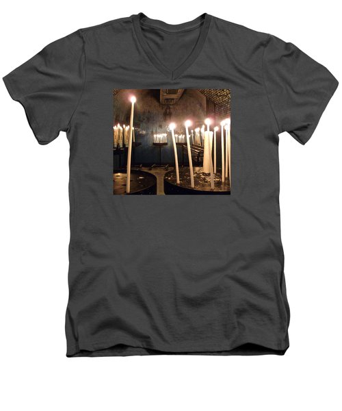 Lights Of Hope Men's V-Neck T-Shirt by Amelia Racca