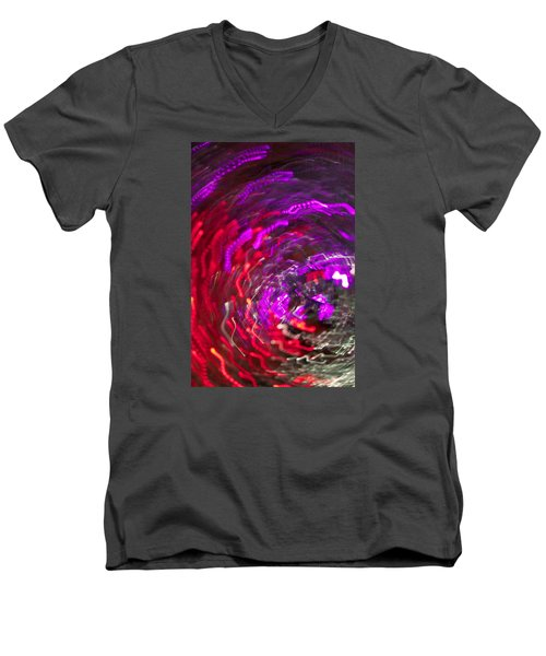 Lights Men's V-Neck T-Shirt by Roseann Errigo