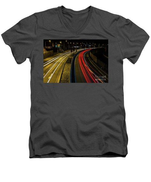 Lightstreams In Schwaebisch Gmuend Men's V-Neck T-Shirt
