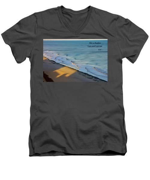 Like A Shadow Men's V-Neck T-Shirt by Rhonda McDougall