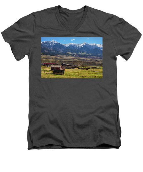 Like An Old Western Movie Men's V-Neck T-Shirt by James BO Insogna