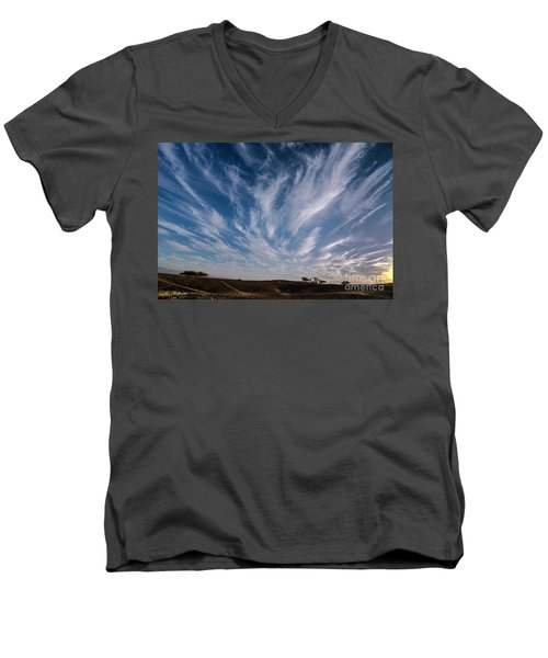 Like Feathers In The Sky Men's V-Neck T-Shirt
