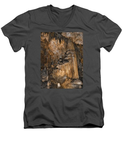 Like Organ Pipes They Stand Men's V-Neck T-Shirt