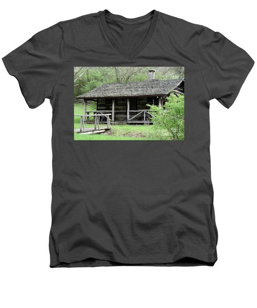 Lil Cabin Home On The Hill  Men's V-Neck T-Shirt