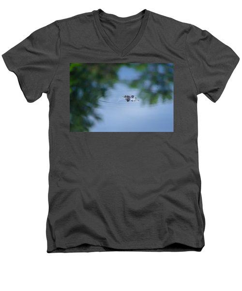 Lil Guy Men's V-Neck T-Shirt by Craig Szymanski