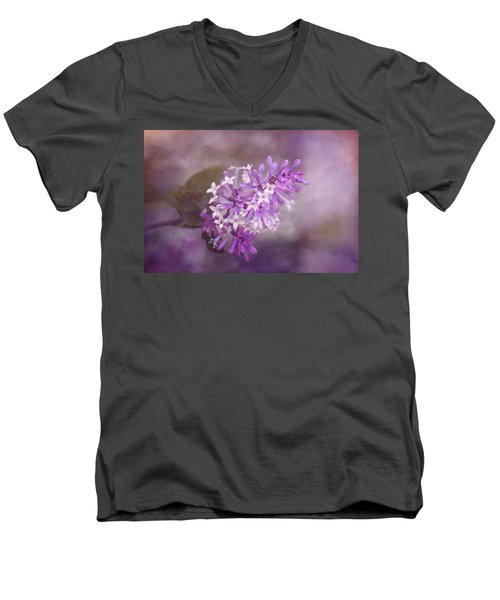 Men's V-Neck T-Shirt featuring the photograph Lilac Blossom by Tom Mc Nemar