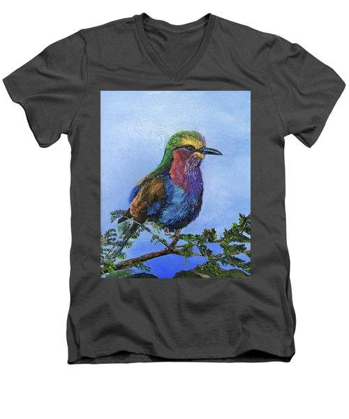 Lilac Breasted Roller Men's V-Neck T-Shirt