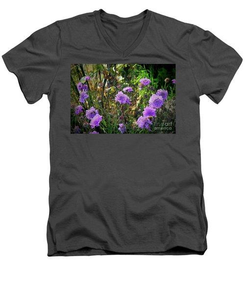 Lilac Carved Jellytot Men's V-Neck T-Shirt