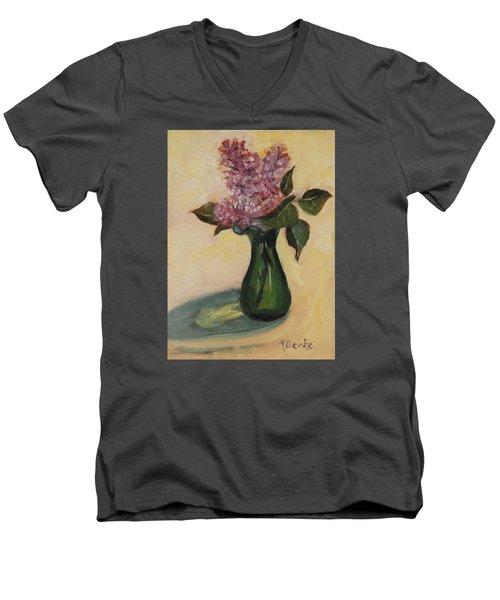 Lilac Reflections Men's V-Neck T-Shirt