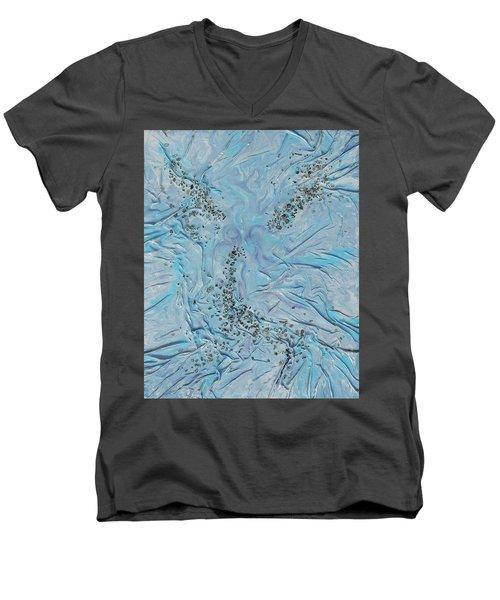Lilac Sunstones Men's V-Neck T-Shirt by Angela Stout