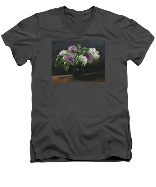 Lilacs Men's V-Neck T-Shirt