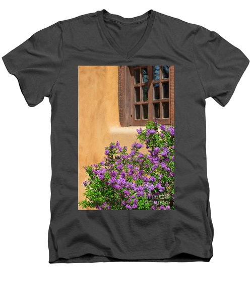 Lilacs And Adobe Men's V-Neck T-Shirt by Catherine Sherman