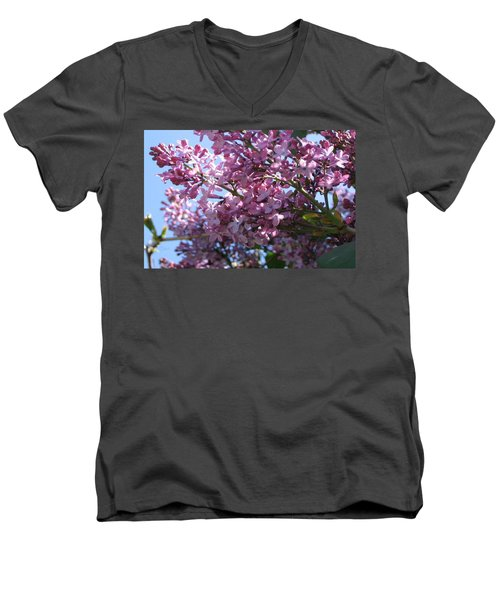 Lilacs In Bloom 2 Men's V-Neck T-Shirt by Barbara Yearty