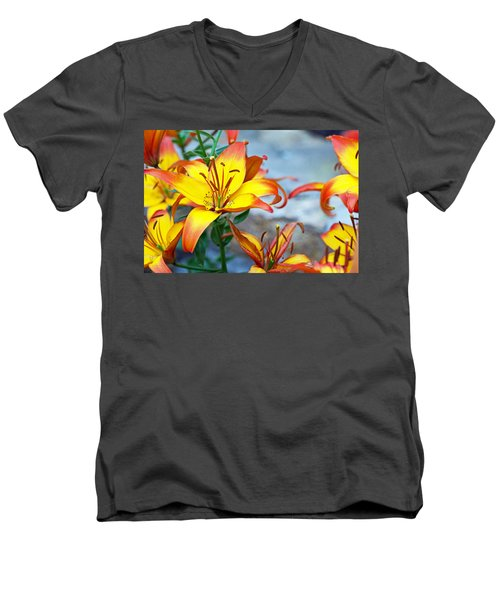 Lilies Of The Field #1 Men's V-Neck T-Shirt
