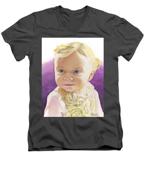 Lillian Men's V-Neck T-Shirt by Ferrel Cordle