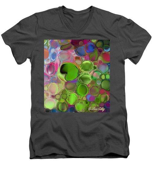Lilly Pond Men's V-Neck T-Shirt by Loxi Sibley