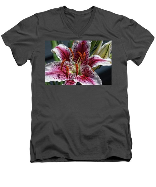 Lilly Up Close Men's V-Neck T-Shirt