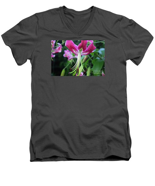 Lily At The Church Men's V-Neck T-Shirt