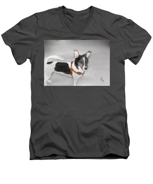 Lily Men's V-Neck T-Shirt by Carole Robins