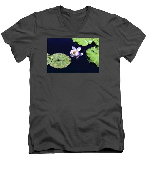 Men's V-Neck T-Shirt featuring the photograph Lily Love II by Suzanne Gaff