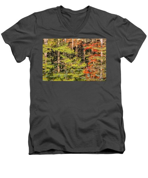 Lily Pad Abstract II Men's V-Neck T-Shirt