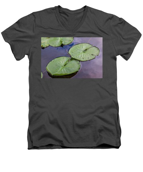 Lily Pad Reflections Men's V-Neck T-Shirt
