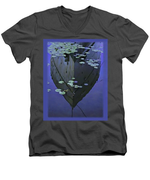 Lily Pads And Reflection Men's V-Neck T-Shirt by John Hansen