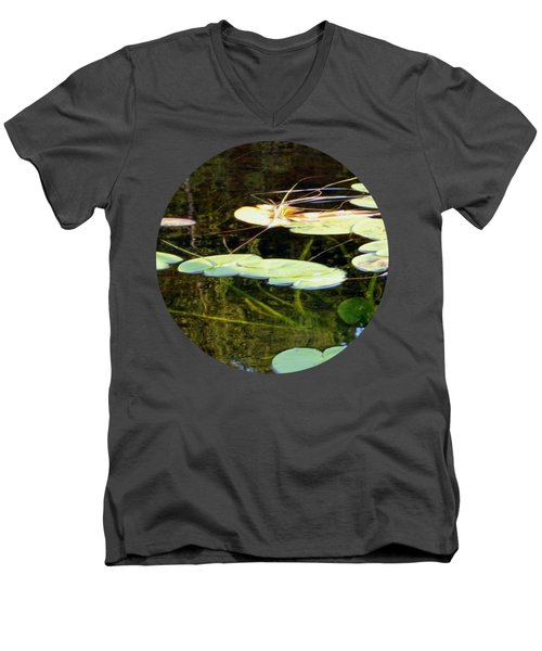 Lily Pads On The Lake Men's V-Neck T-Shirt