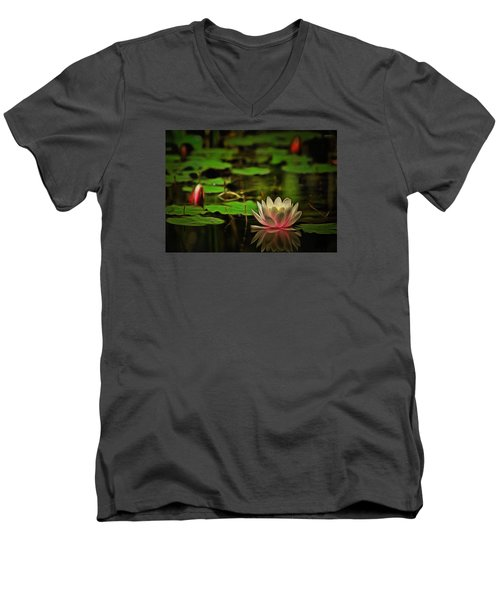 Lily Pond Men's V-Neck T-Shirt