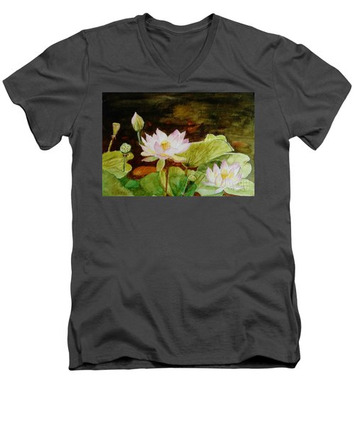 The Lily Pond - Painting  Men's V-Neck T-Shirt