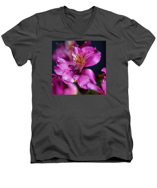 Men's V-Neck T-Shirt featuring the photograph Lily by Susi Stroud
