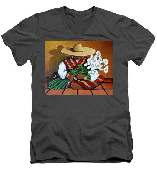 Lily Woman Men's V-Neck T-Shirt