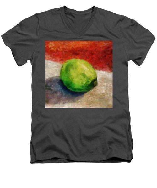 Lime Still Life Men's V-Neck T-Shirt