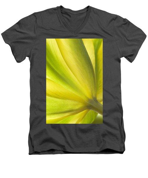 Lime Tulip Men's V-Neck T-Shirt
