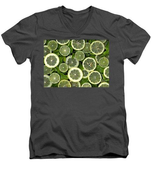 Limons Men's V-Neck T-Shirt by Christian Slanec