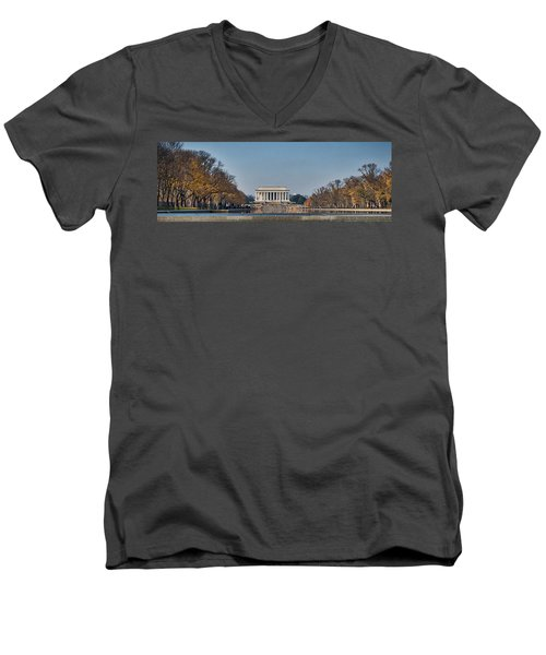 Lincoln From Afar Men's V-Neck T-Shirt