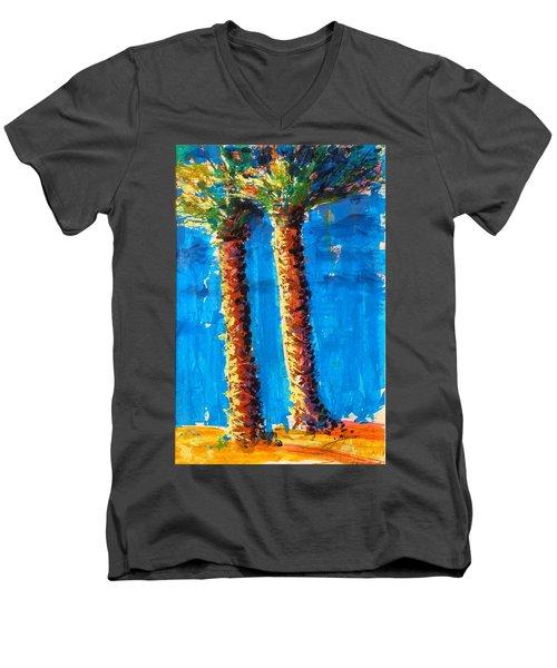Lincoln Rd Date Palms Men's V-Neck T-Shirt