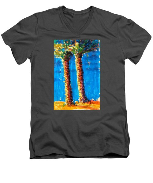 Lincoln Rd Date Palms Men's V-Neck T-Shirt