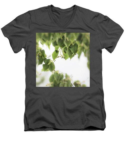 Linden In The Rain 2 -  Men's V-Neck T-Shirt