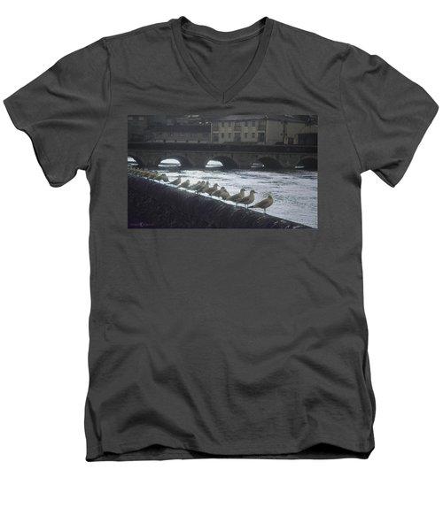 Line Of Birds Men's V-Neck T-Shirt