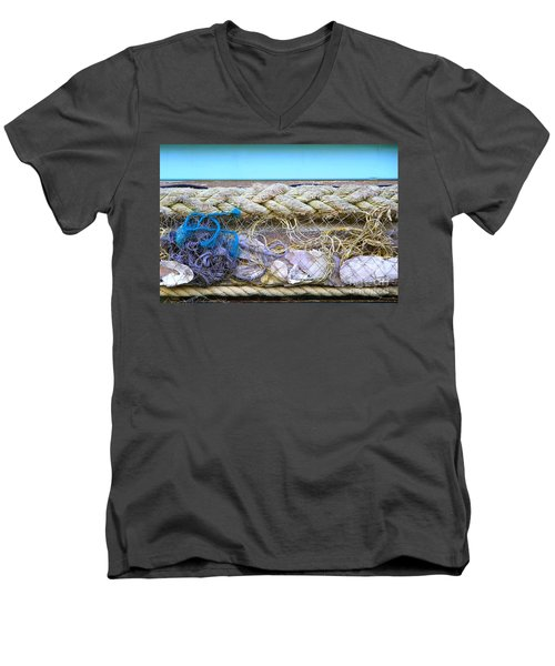 Men's V-Neck T-Shirt featuring the photograph Line Of Debris II by Stephen Mitchell