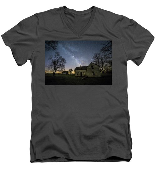 Men's V-Neck T-Shirt featuring the photograph Linear by Aaron J Groen