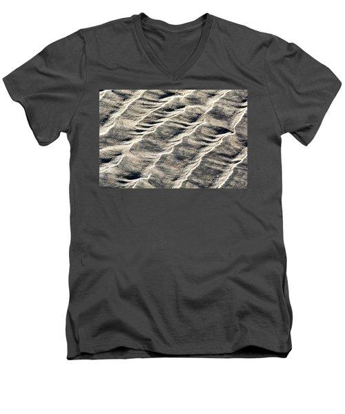 Lines On The Beach Men's V-Neck T-Shirt