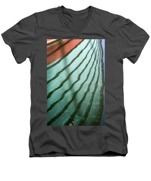 Lines On The Water Men's V-Neck T-Shirt