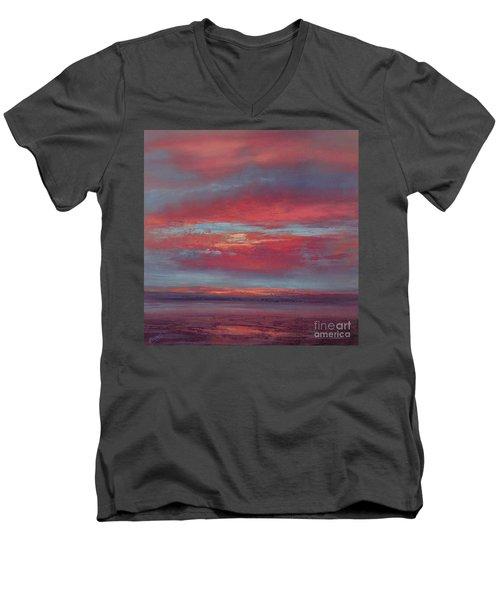 Lingering Heat Men's V-Neck T-Shirt by Valerie Travers