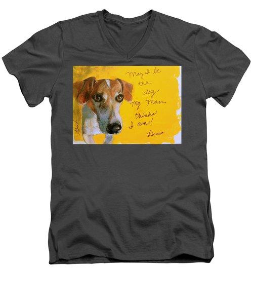 Linus Men's V-Neck T-Shirt